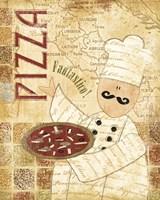 Pizza & Pasta I Fine Art Print