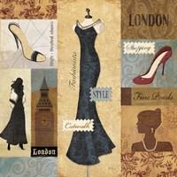 Couture Paris & London II Fine Art Print