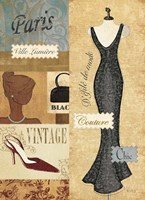 Couture Paris & London III Fine Art Print