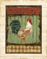 Rooster Portraits III with Border Framed Print
