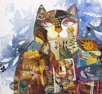 Collage Cat Fine Art Print