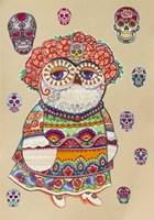 Day of Dead Owl Fine Art Print
