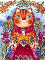 Folk Red 2 Fine Art Print