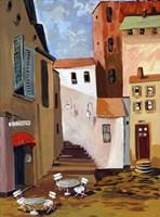 Bistro Courtyard Fine Art Print