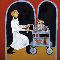 Dessert Cart Garcon Fine Art Print
