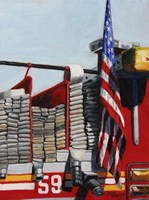 Engine 59 American Flag Fine Art Print