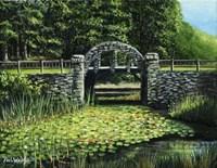 Garden Bridge Fine Art Print