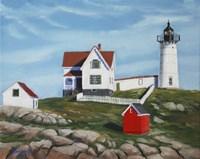 Nubble Light House3 Fine Art Print