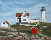 Nubble Light House3 Fine Art Print