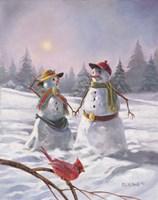 Mr And Mrs Snow 2010 Fine Art Print