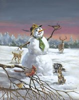 Mr Snow And Friends Fine Art Print