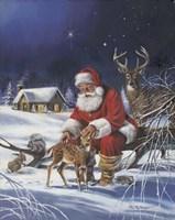 Santa's Love Fine Art Print