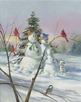 Snow Family Fine Art Print