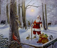 Christmas In The Forest Fine Art Print