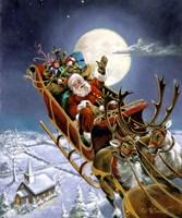 Santas Big Night Fine Art Print