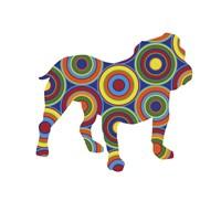 Bulldog Abstract Circles Fine Art Print
