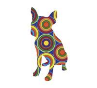 Chihuahua Abstract Circles Fine Art Print