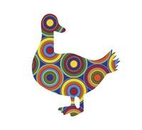 Duck Abstract Circles Fine Art Print