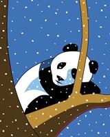 Giant Panda Sleeping In Treee Fine Art Print