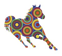 Horse Abstract Circles Fine Art Print
