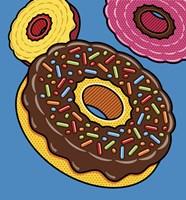 Doughnuts On Blue Fine Art Print