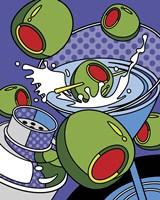 Martini Flying Olives Fine Art Print