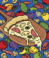 Pizza Slice With Toppings Fine Art Print