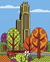 Cathedral Of Learning Pittsburgh Fine Art Print