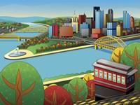 Pittsburgh Incline Autumn Fine Art Print