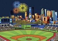 PNC Park Fireworks Pittsburgh Fine Art Print