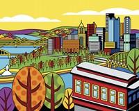 Pittsburgh Incline Autumn Pop Fine Art Print