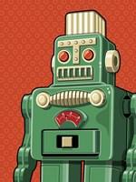 Vintage Green Robot Fine Art Print