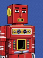 Vintage Red Robot Fine Art Print