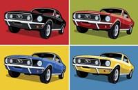 1968 Mustang Classic Car Fine Art Print