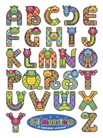 Li'l Monsters of Alphabet Universe Fine Art Print