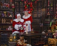 Painting With Mrs Claus Fine Art Print