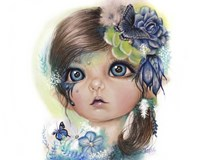 Indigo - MunchkinZ Elf Fine Art Print
