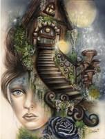 Moonlit Manor Fine Art Print