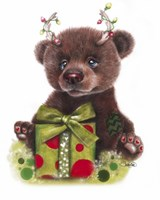 Bruno Bear, Rudolph Fan Fine Art Print
