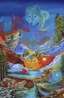 Mystique Wolves Fine Art Print