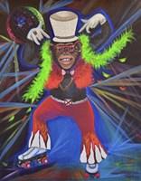 Funky Pinky Monkey Fine Art Print