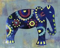 Boho Elephant 2 Framed Print