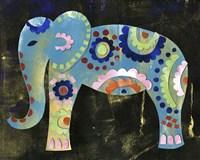 Boho Elephant 3 Framed Print