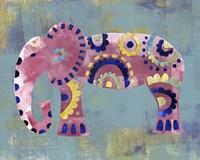 Boho Elephant 4 Fine Art Print