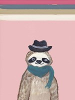 Hipster Sloth with Stripes Fine Art Print