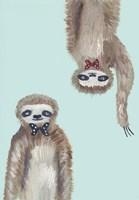 Hipster Sloths Fine Art Print
