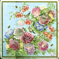 Flowers, Bees & Birds Fine Art Print