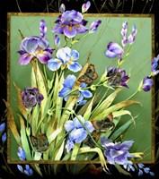 Flowers & Butterflies Fine Art Print