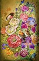Flowers & Birds Fine Art Print