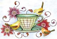 Afternoon Tea & Tweets Fine Art Print